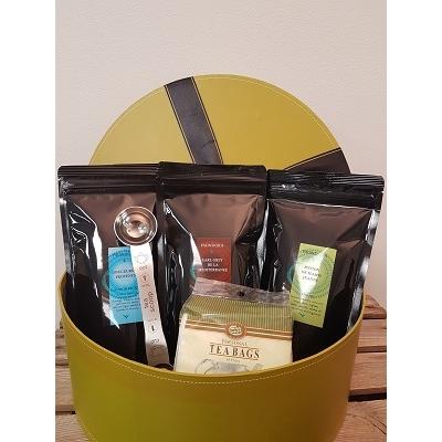Coffret cadeau 3 thés, filtres en papier et cueillere doseuse à thé