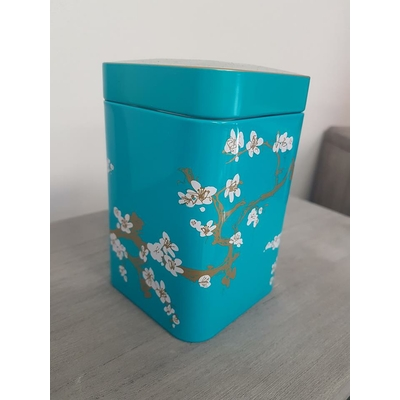 boite japon cerisiers bleu turquoise