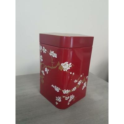 boite décorative rouge cerisiers