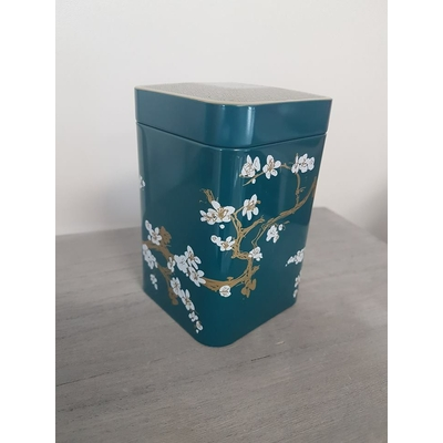 boite japonaise cerisiers bleu canard