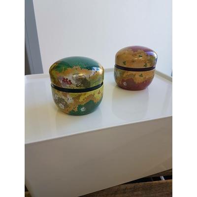 lot de 2 boites décoratives laquées japonaises