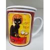 Tasse à thé : chat noir