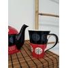Tasse moderne rouge et noire