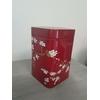 Boite à thé Rouge avec fleurs de cerisiers