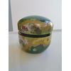 boite à thé laquée japonaise dorée et verte 2