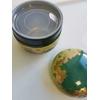 boite à thé laquée japonaise dorée et verte 4