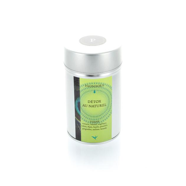 boite tisane detox au naturel plantes bien tre paondora votre th au quotidien. Black Bedroom Furniture Sets. Home Design Ideas