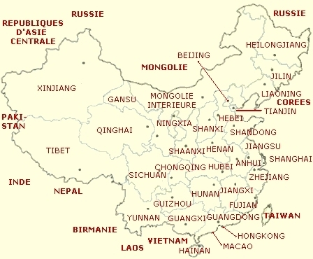 CARTE DE THE EN CHINE