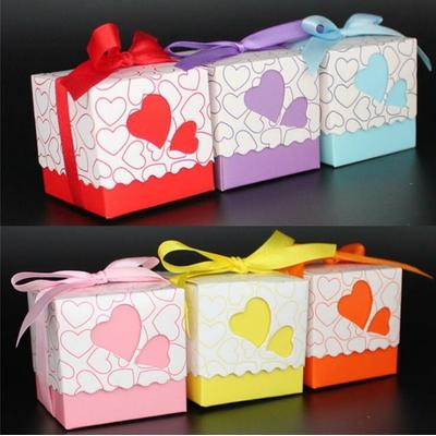 Mini Box à dragées Amour Petits coeurs