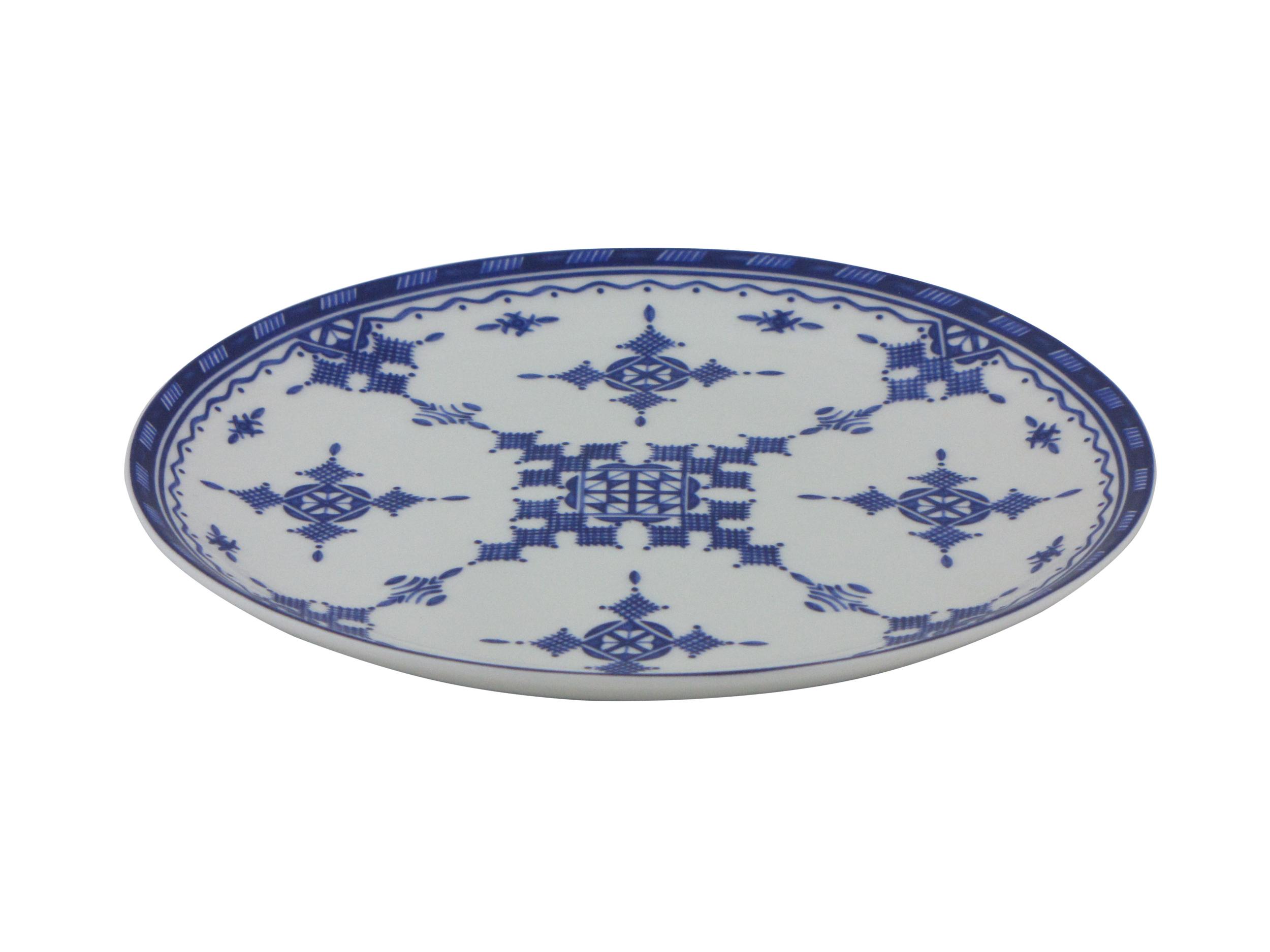 Assiette plate 18 cm Point Bleu