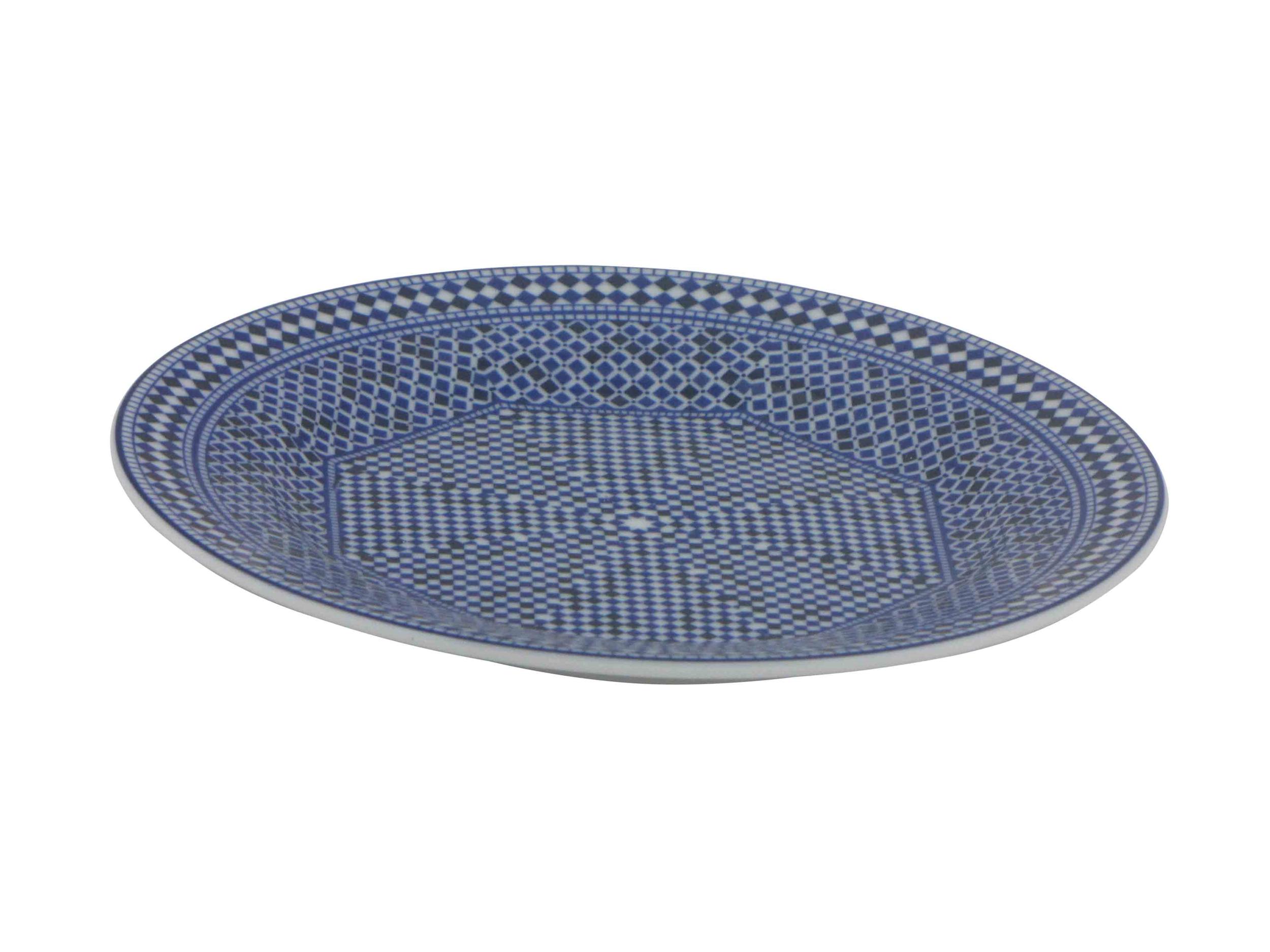 PILLIVUYT  Assiette plate 20 cm en porcelaine blanche 'Plissé' de Pillivuyt