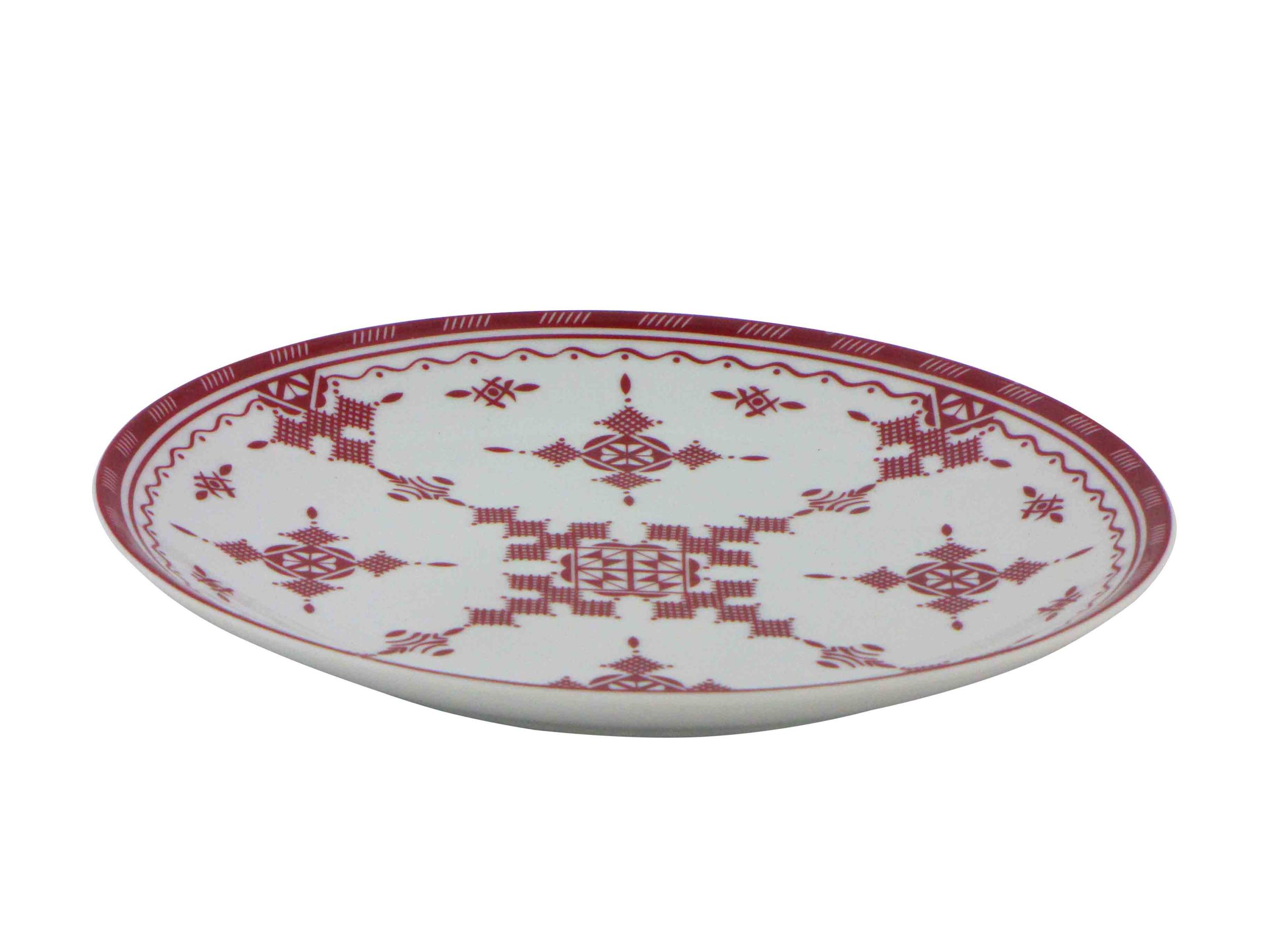 Assiette plate 20 cm Point Rouge