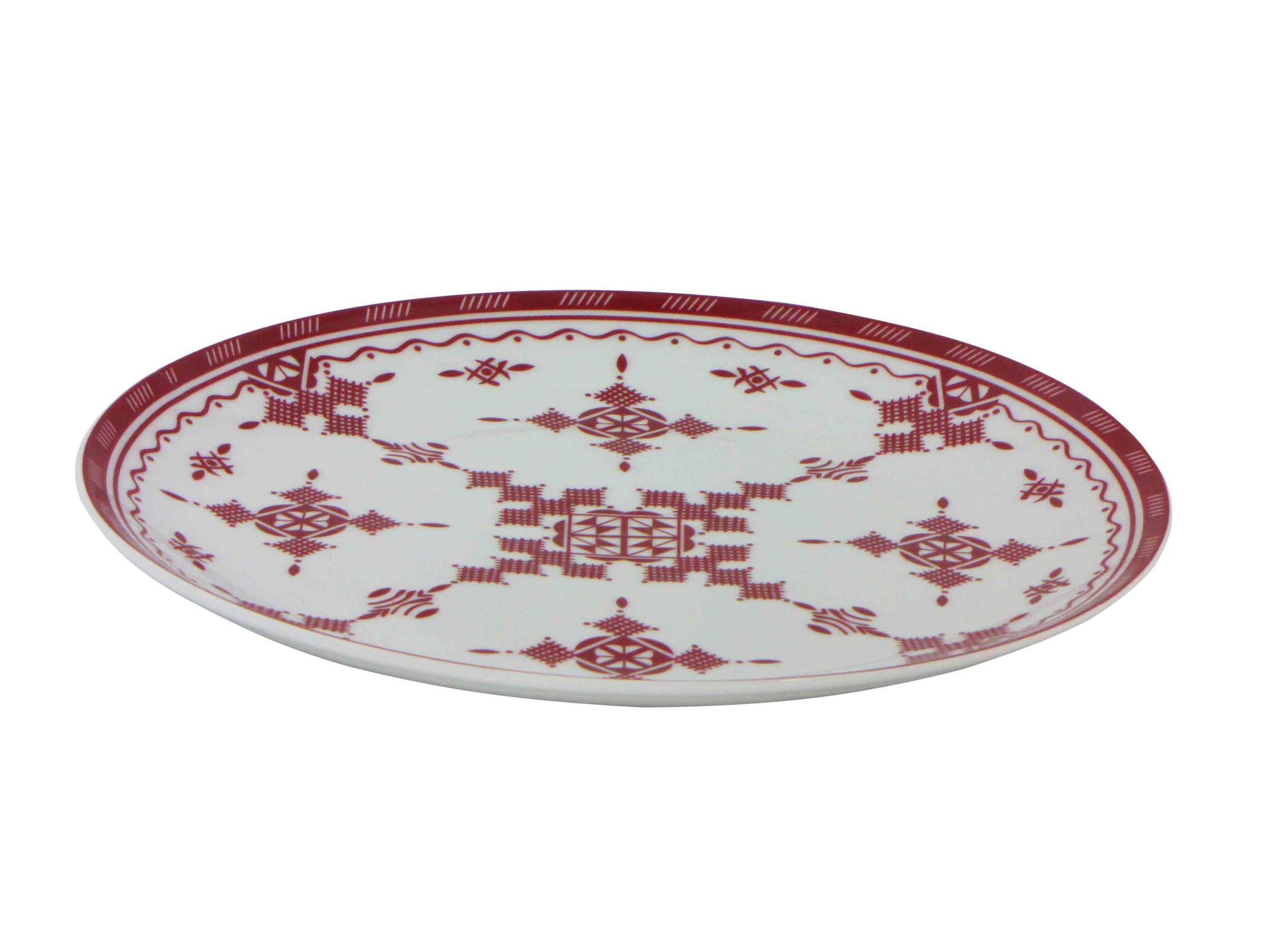 Assiette plate 26 cm Point Rouge