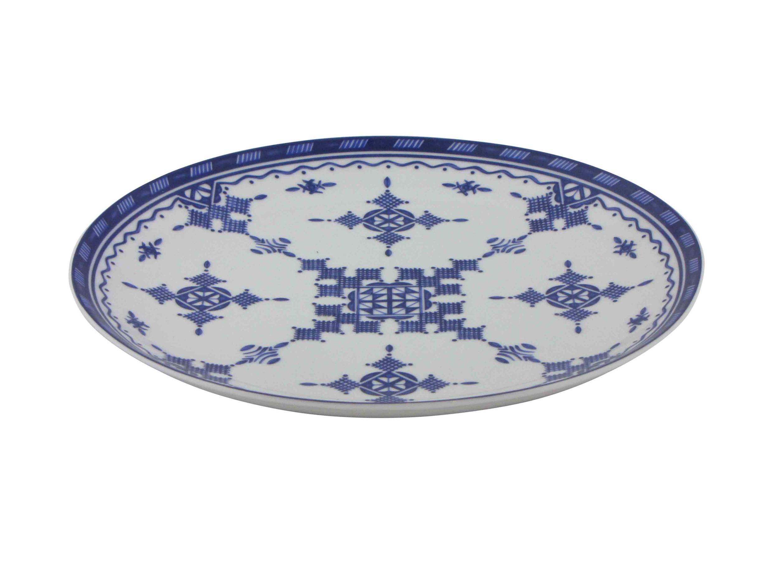 Assiette plate 26,5 cm Point Bleu