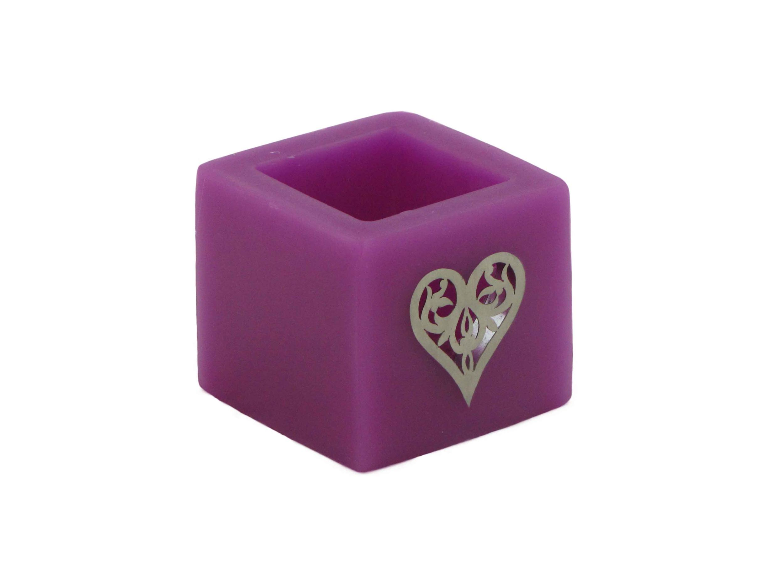 photophore c ur violet photophores en cire. Black Bedroom Furniture Sets. Home Design Ideas