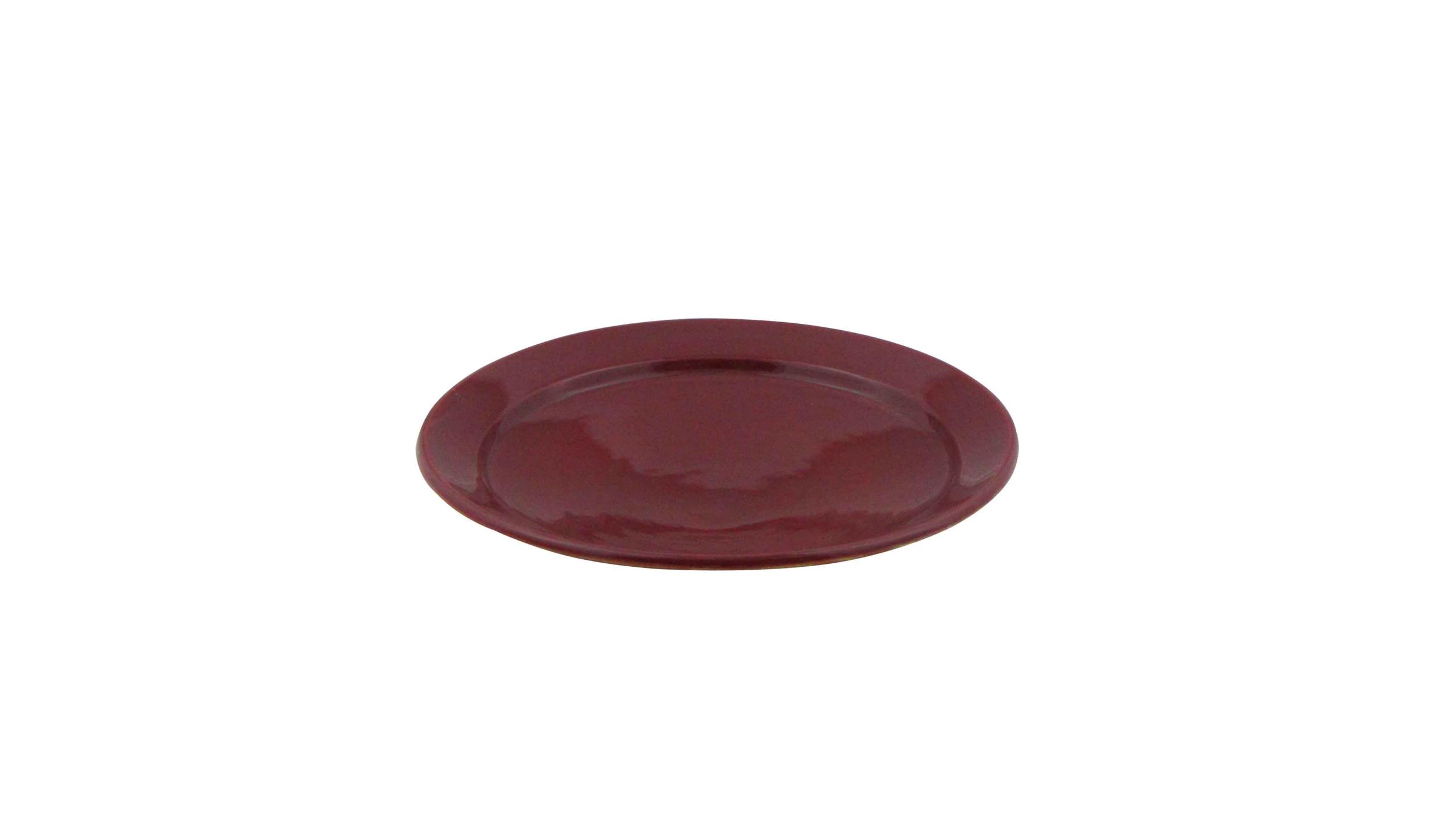 Plat-Assiette sur socle D26cm aubergine