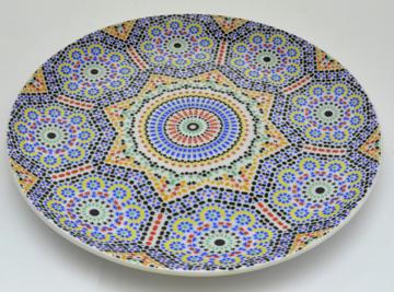 Assiette plate 18cm Zellige