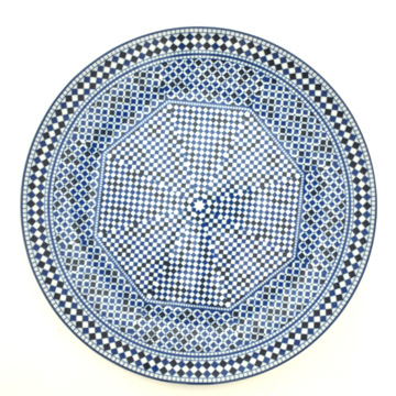 Plat rond D 40 45 Bleu de Fes A