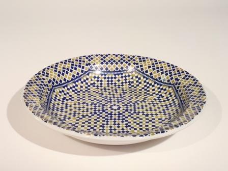 Assiette creuse Mozaik Cocema 21.5cm