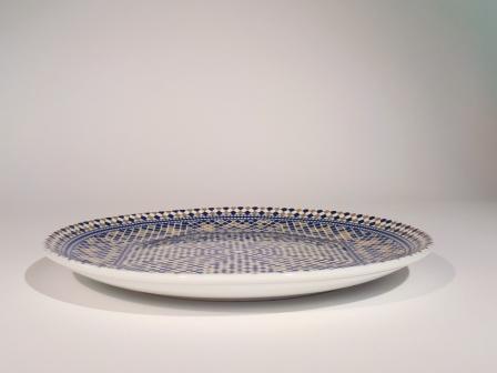 Assiette plate mozaïk 25,5cm P de Fès