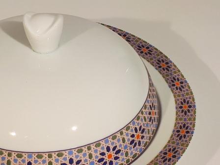 Assiette creuse Médina cloche 23 cm