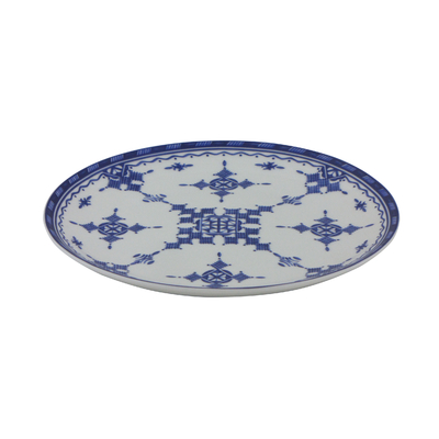 Assiette plate 18 cm Point Bleu