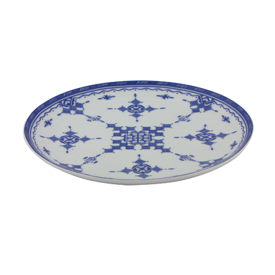 Assiette plate 20 cm Point Bleu