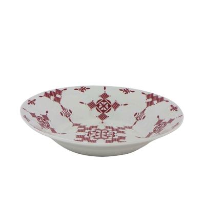 Assiette creuse 23 cm Point Rouge