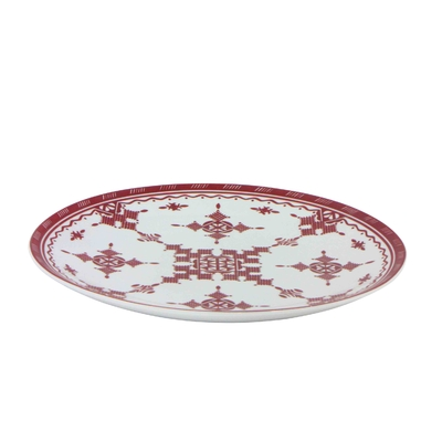 Plat rond 30 cm Point Rouge