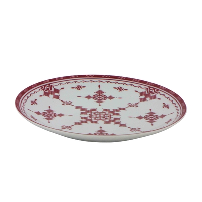 Assiette plate 20 cm Point Rouge