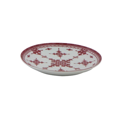 Assiette plate 18 cm Point Rouge