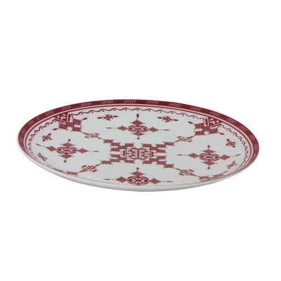 Assiette plate 26 cm Point Rouge