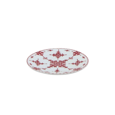 Assiette plate 15 cm Point Rouge