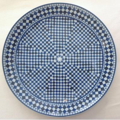 """Assiette plate Bleu de Fès 26,5 cm """"Série limitée"""""""