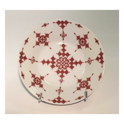 Assiette creuse 15 cm Point Rouge