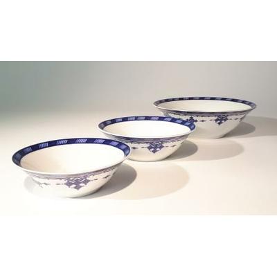 3 saladiers 15/17/22 cm Point Bleu