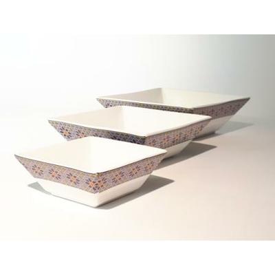 3 Saladiers carrés encastrables Médina