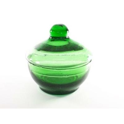 Compotier vert H14/D16 cm