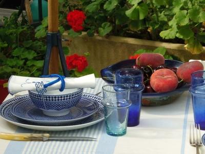 assiette Bleu de Fès & verre Beldi bleu_R