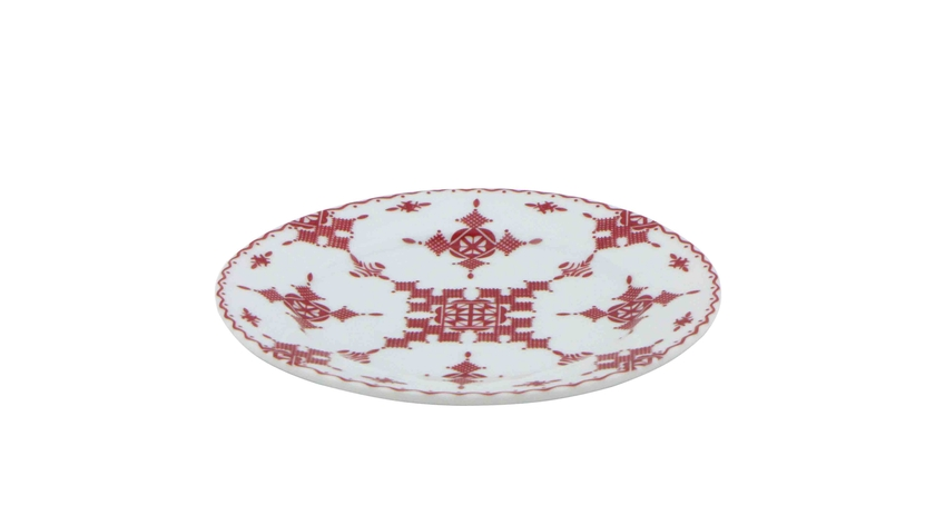 Assiette_15cm_ Point Rouge_face