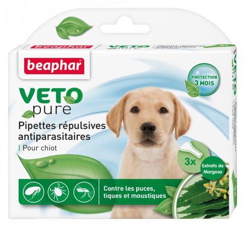 Pipettes r'pulsives VETOpure antiparasitaires chiot