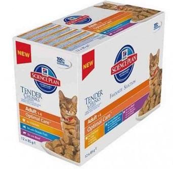 Hill's Multipack Science Plan Feline poulet viande poisson noszanimos