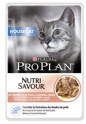 Purina Proplan - Nutrisavour Housecat - Saumon - 10 Sachets de 85gr