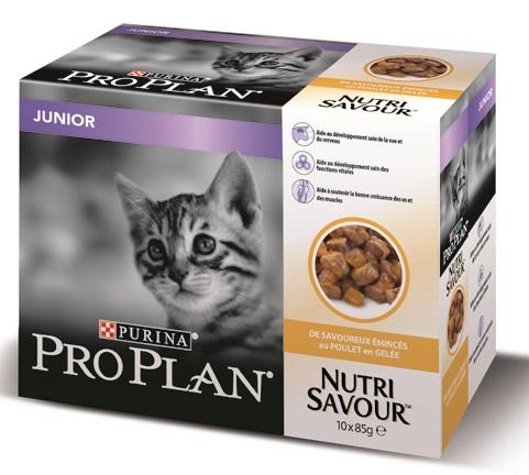 Purina Proplan Nutrisavour Junior en gelée Poulet - 10 Sachets de 85gr