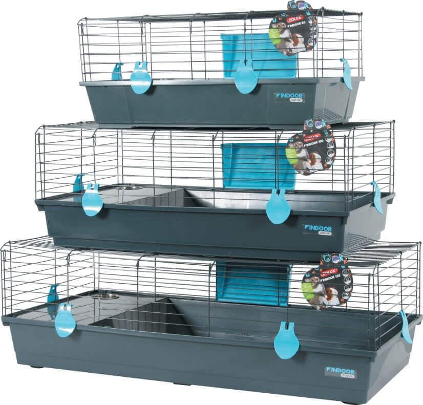 Zolux-Cage Indoor Bleu pour Lapin et cochon d\'inde