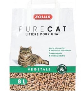 Zolux-Litiere Pure Cat - Végétale Naturelle - 8L
