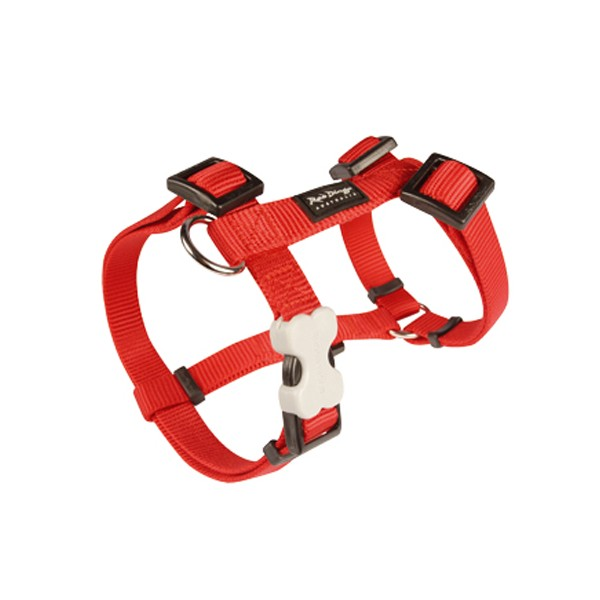 Harnais réglable Red Dingo Basic rouge
