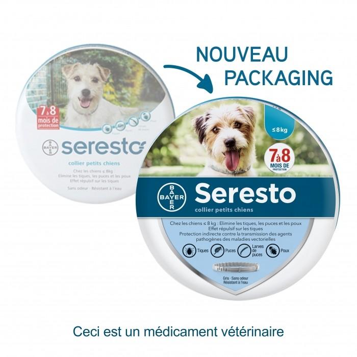collier-seresto chien 8kg nouveau packaging noszanimos