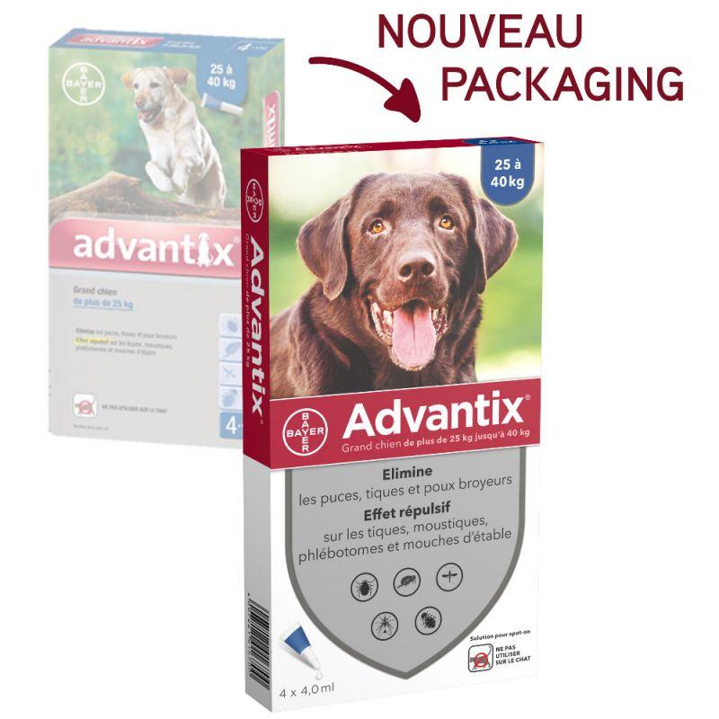 Advantix Pipettes Anti Parasitaire pour Grand Chien  - 25 - 40kg