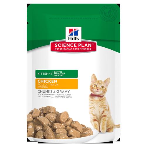 Hills Science Plan - Kitten Poulet - 12 Sachets 85g noszanimos